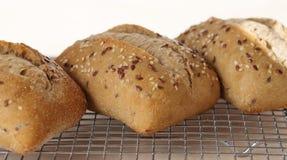 Trzy Ciabatta Chlebowej rolki Zdjęcia Royalty Free