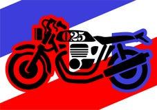 Trzy colour retro motocykl ilustracji