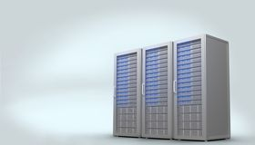 Trzy cyfrowy popielaty serwer góruje Obrazy Stock