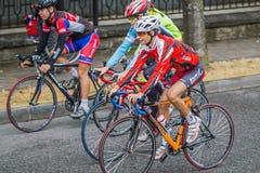 Trzy cyklista Fotografia Royalty Free