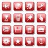 trzy części sieci ikony Zdjęcie Royalty Free