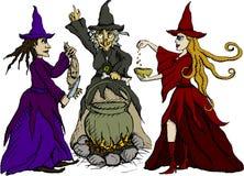 trzy czarownicy Zdjęcia Royalty Free