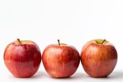 trzy czerwone jabłko Zdjęcia Royalty Free