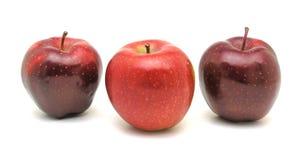 trzy czerwone jabłko Fotografia Stock