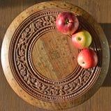 trzy czerwone jabłko Fotografia Royalty Free