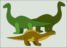 Trzy dinosaura Fotografia Stock