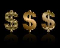 Trzy dolarowego znaka royalty ilustracja