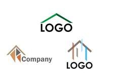 Trzy domowego loga Obrazy Stock
