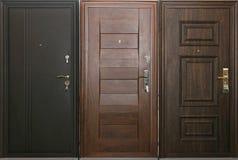Trzy drzwi Zdjęcie Royalty Free