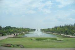 Trzy duży basen w królewiątka Rama IX parku zdjęcia royalty free