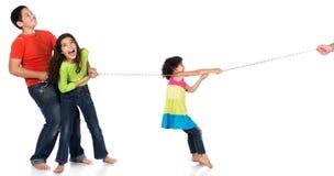 Trzy dzieciaków bawić się Obrazy Stock