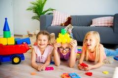 Trzy dzieciaka w daycare obraz stock