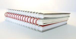 Trzy dzienniczek książki Zdjęcia Stock