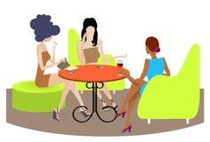 Trzy dziewczyn rozmowa royalty ilustracja