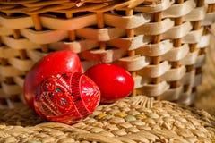 Trzy Easter czerwień Fotografia Royalty Free