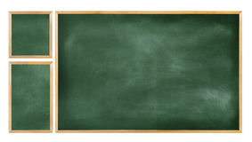 Trzy edukaci sala lekcyjnej Blackboard Pusty pojęcie Fotografia Stock