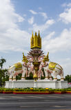Trzy Erawan statuy zdjęcia royalty free