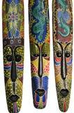 Trzy etniczna maska Fotografia Stock