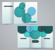 Trzy fałdów broszurki biznesowy szablon, korporacyjna ulotka lub pokrywa projekt, Zdjęcie Royalty Free