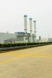 Trzy fabrycznego kominu Zdjęcia Royalty Free