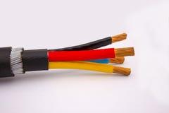 Trzy faz kabel Zdjęcia Stock