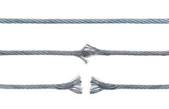 Trzy fazy łamanie metalu kabel Zdjęcia Stock