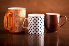 trzy filiżanki herbaty Zdjęcia Stock