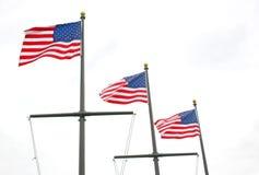 Trzy flaga Obraz Royalty Free