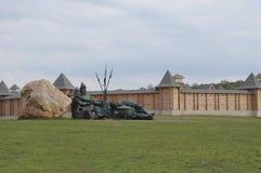 Trzy fortecy i bogatyrs Fotografia Royalty Free