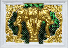 Trzy głowiasty słoń Obrazy Stock