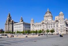 Trzy graci, Liverpool Fotografia Royalty Free
