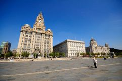 Trzy graci, Liverpool Zdjęcie Royalty Free