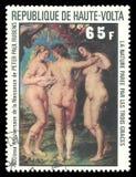 Trzy graci Peter Paul Rubens ilustracja wektor