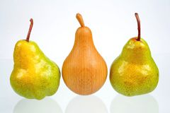 trzy gruszki Obraz Royalty Free