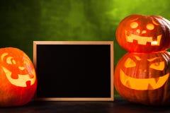 Trzy Halloween Jack O ` lampionu bani Obraz Royalty Free