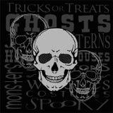Trzy Halloweenowej czaszki Obrazy Royalty Free
