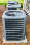 Trzy HVAC jednostki Zdjęcia Royalty Free
