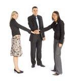trzy interesy partnerów Fotografia Stock