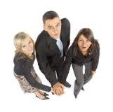 trzy interesy partnerów Zdjęcia Stock