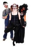 Trzy istot straszny pojęcie Halloween Zdjęcie Royalty Free