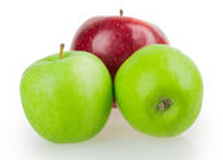 Trzy jabłek czerwieni zieleń Obraz Stock