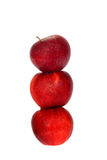 Trzy jabłka Obrazy Royalty Free