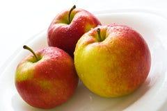 trzy jabłka Fotografia Royalty Free