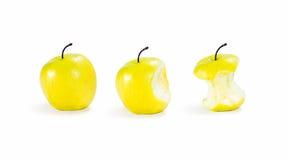 trzy jabłka Zdjęcia Stock