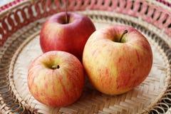 trzy jabłka Obraz Stock