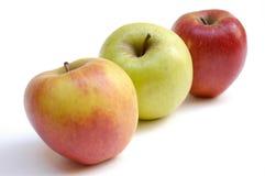 trzy jabłka ii Zdjęcia Stock
