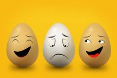 Trzy jajka żółtego i białego ilustracji
