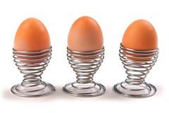 trzy jajka Obrazy Stock