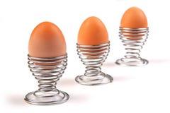 trzy jajka Fotografia Stock