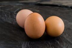 Trzy jajka Zdjęcia Royalty Free